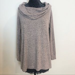 LUCKY BRAND HEATHERED TUNIC L